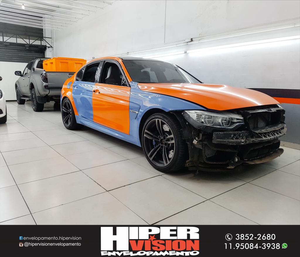 BMW M3 ENVELOPAMENTO TOTAL DE LARANJA BRILHANTE (3)