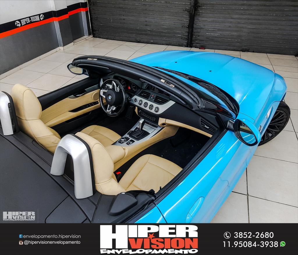 ENVELOPAMENTO TOTAL AZUL BEBE BMW Z4 TOGURO (4)